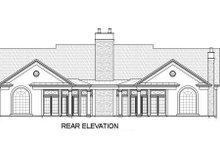 Classical Exterior - Rear Elevation Plan #119-158