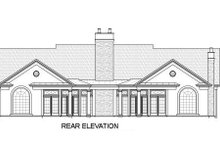 Classical Exterior - Rear Elevation Plan #119-158