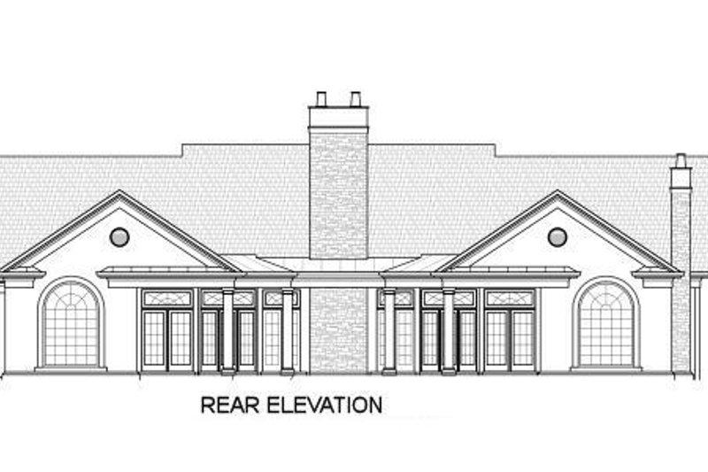 Classical Exterior - Rear Elevation Plan #119-158 - Houseplans.com