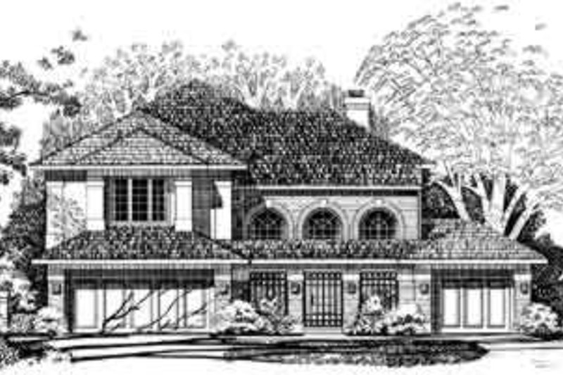 House Blueprint - European Exterior - Front Elevation Plan #72-468