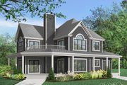 Farmhouse Style House Plan - 4 Beds 3.5 Baths 2992 Sq/Ft Plan #23-383 Exterior - Front Elevation