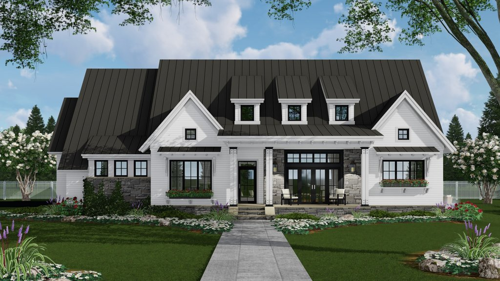 Farmhouse Style House Plan 3 Beds 2 5 Baths 2287 Sq Ft