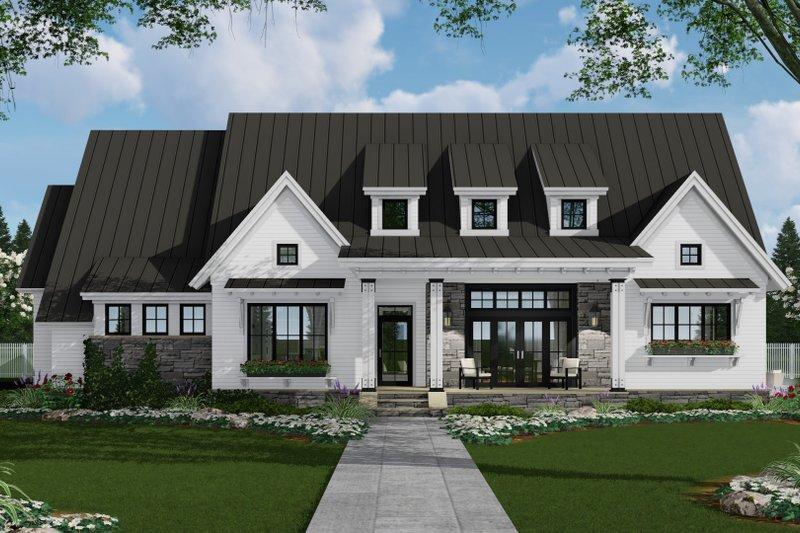 House Design - Farmhouse Exterior - Front Elevation Plan #51-1137