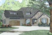 European Style House Plan - 3 Beds 2.5 Baths 2408 Sq/Ft Plan #17-2522