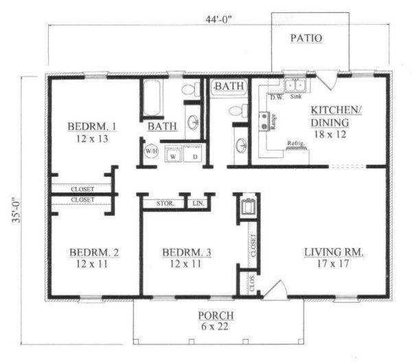 Traditional Floor Plan - Main Floor Plan Plan #14-248