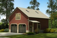 Country Exterior - Front Elevation Plan #124-993