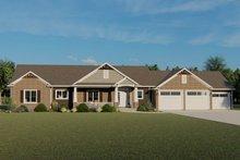 Dream House Plan - Craftsman Exterior - Front Elevation Plan #1064-59
