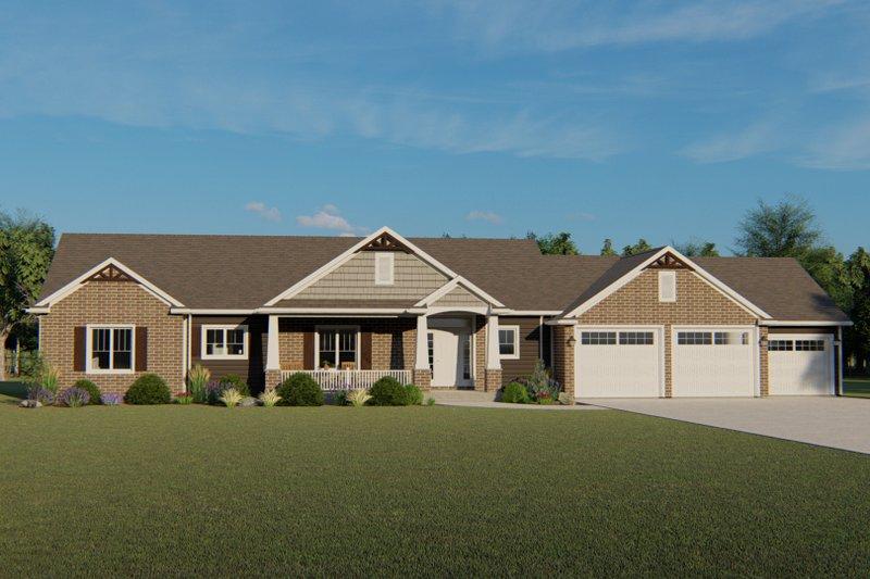 Home Plan - Craftsman Exterior - Front Elevation Plan #1064-59