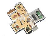 European Style House Plan - 4 Beds 2 Baths 4054 Sq/Ft Plan #25-4476 Floor Plan - Main Floor Plan
