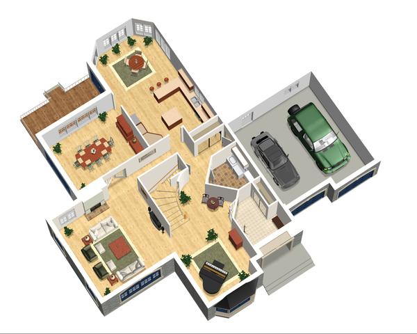 European Floor Plan - Main Floor Plan Plan #25-4476