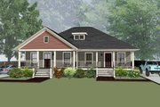 Traditional Style House Plan - 2 Beds 1 Baths 1824 Sq/Ft Plan #79-236 Exterior - Front Elevation