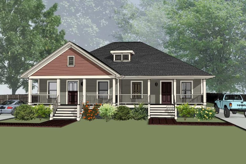 Architectural House Design - Traditional Exterior - Front Elevation Plan #79-236