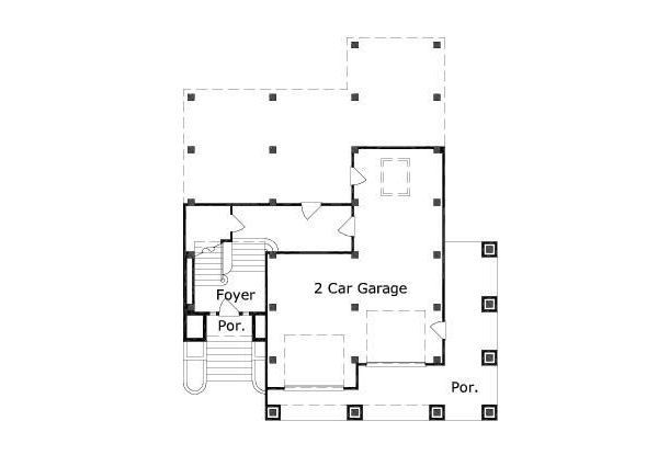 Mediterranean Floor Plan - Main Floor Plan Plan #411-240