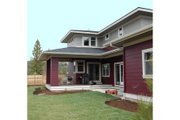 Prairie Style House Plan - 4 Beds 2.5 Baths 2439 Sq/Ft Plan #434-2 Exterior - Rear Elevation