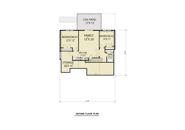 Craftsman Floor Plan - Lower Floor Plan #1070-99
