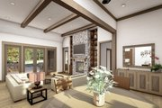 Cottage Style House Plan - 4 Beds 2.5 Baths 2298 Sq/Ft Plan #406-9654 Interior - Family Room