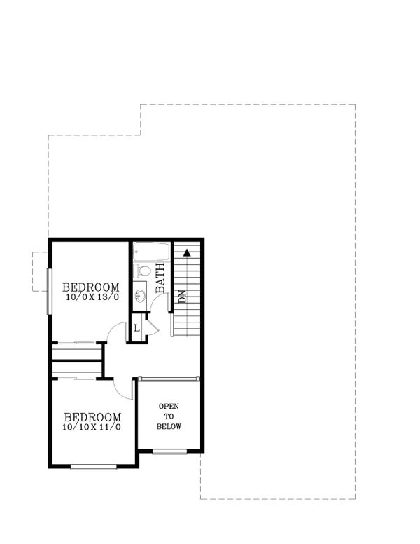 Craftsman Floor Plan - Upper Floor Plan Plan #53-570