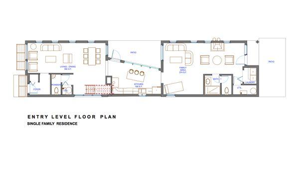 Modern Floor Plan - Main Floor Plan Plan #535-3