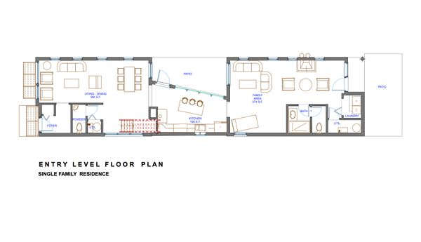 Modern Floor Plan - Main Floor Plan Plan #535-3