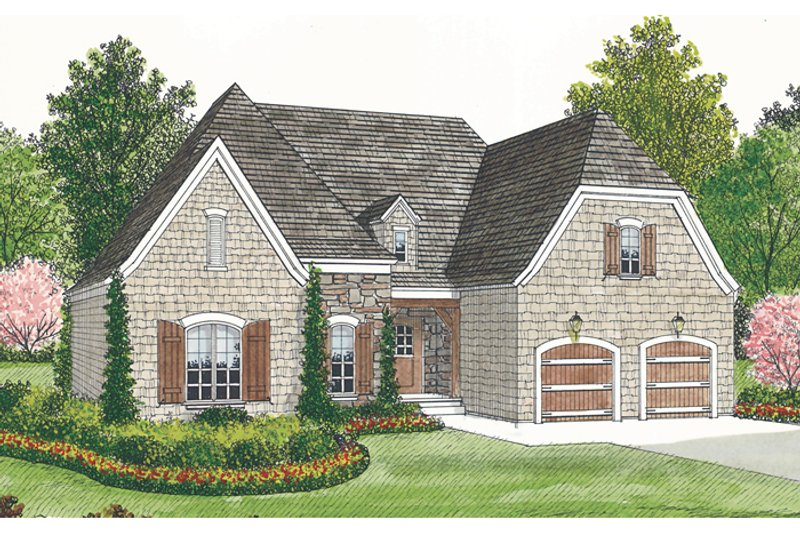 European Exterior - Front Elevation Plan #453-28