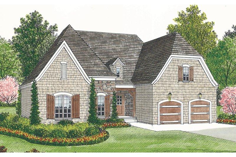 Dream House Plan - European Exterior - Front Elevation Plan #453-28