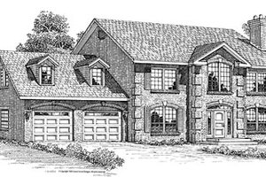 European Exterior - Front Elevation Plan #47-296