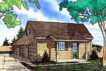 Country Exterior - Front Elevation Plan #405-153