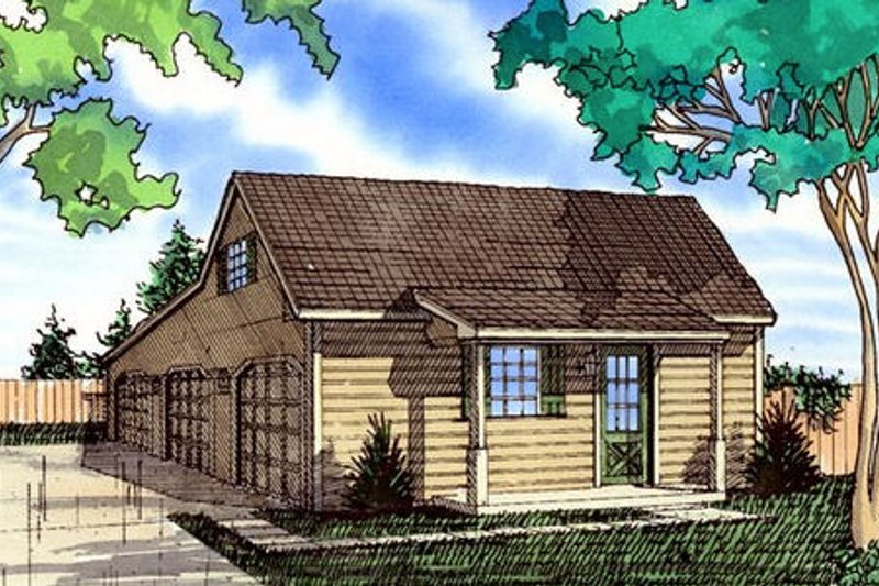 Architectural House Design - Country Exterior - Front Elevation Plan #405-153