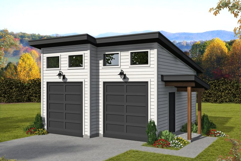 Home Plan - Contemporary Exterior - Front Elevation Plan #932-82
