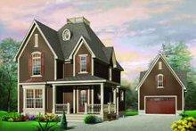 Dream House Plan - European Exterior - Front Elevation Plan #23-550