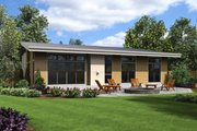 Contemporary Style House Plan - 3 Beds 2 Baths 1624 Sq/Ft Plan #48-668 Exterior - Rear Elevation