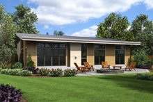 Contemporary Exterior - Rear Elevation Plan #48-668