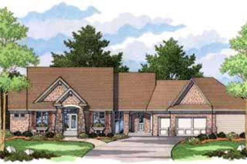 European Style House Plan - 4 Beds 2.5 Baths 2706 Sq/Ft Plan #51-202 Exterior - Front Elevation