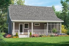 House Plan Design - Country Exterior - Rear Elevation Plan #21-206