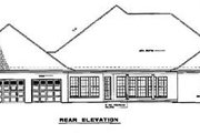 Traditional Style House Plan - 4 Beds 5 Baths 3474 Sq/Ft Plan #17-2001 Exterior - Rear Elevation