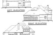 European Style House Plan - 4 Beds 2.5 Baths 2655 Sq/Ft Plan #20-252 Exterior - Other Elevation