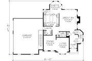 European Style House Plan - 3 Beds 2.5 Baths 2503 Sq/Ft Plan #320-147 Floor Plan - Main Floor