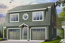 Country Exterior - Front Elevation Plan #23-756