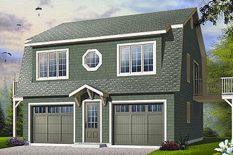 Country Style House Plan - 2 Beds 1.5 Baths 992 Sq/Ft Plan #23-756 Exterior - Front Elevation