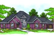 European Style House Plan - 3 Beds 2.5 Baths 3608 Sq/Ft Plan #70-531 Exterior - Front Elevation