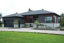 Front View - 1700 square foot modern home