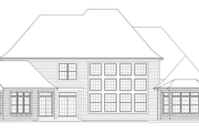 Tudor Style House Plan - 4 Beds 4.5 Baths 6088 Sq/Ft Plan #57-575 Exterior - Rear Elevation