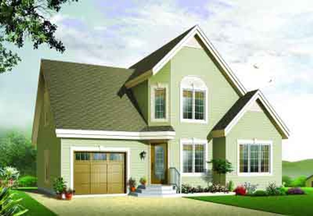 Traditional style house plan 3 beds 2 baths 1495 sq ft for Maison eplans