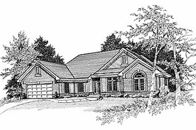 Traditional Exterior - Front Elevation Plan #70-321 - Houseplans.com