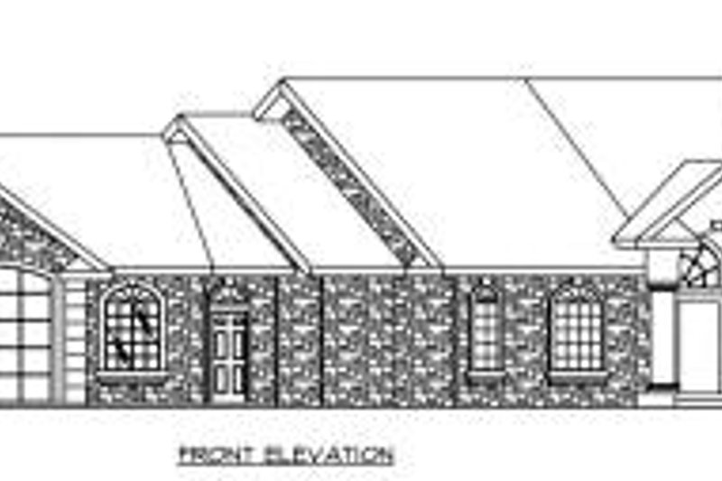 Ranch Exterior - Other Elevation Plan #117-563 - Houseplans.com
