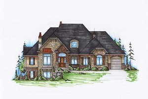 Craftsman Exterior - Front Elevation Plan #5-334