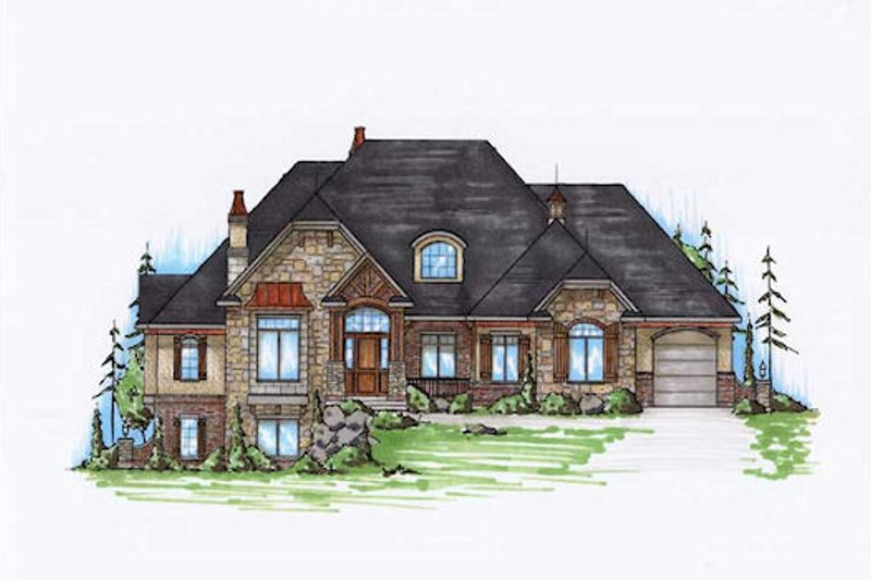 Home Plan - Craftsman Exterior - Front Elevation Plan #5-334