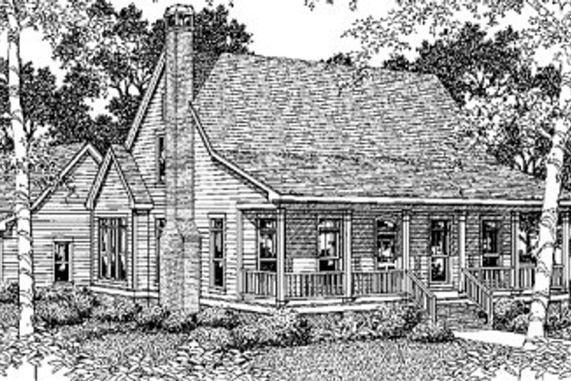 Country Exterior - Front Elevation Plan #41-132 - Houseplans.com