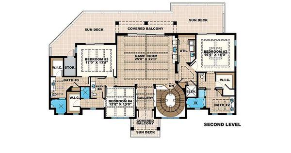 Beach Floor Plan - Upper Floor Plan Plan #27-546