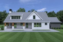 Cottage Exterior - Rear Elevation Plan #1070-61